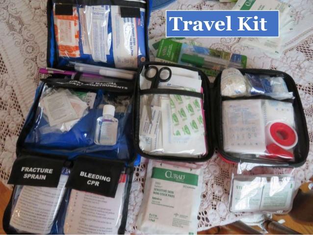 Vật dụng y tế nên mang theo khi du lịch